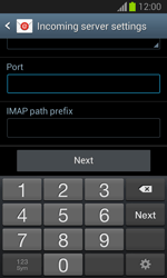 Samsung S7390 Galaxy Trend Lite - E-mail - Manual configuration IMAP without SMTP verification - Step 11