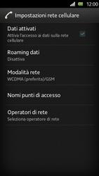 Sony Xperia U - Internet e roaming dati - Disattivazione del roaming dati - Fase 8