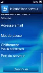 Sony TXT Pro - E-mail - Configuration manuelle - Étape 12