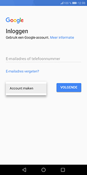 Huawei P Smart - apps - account instellen - stap 4