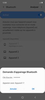 Samsung Galaxy A51 5G - Internet et connexion - Connexion avec un équipement multimédia via Bluetooth - Étape 9
