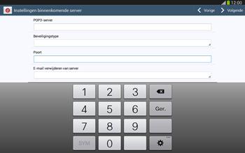 Samsung P5220 Galaxy Tab 3 10-1 LTE - E-mail - e-mail instellen: POP3 - Stap 10