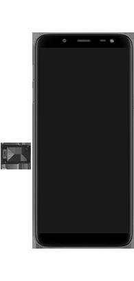 Samsung Galaxy J6 - Premiers pas - Insérer la carte SIM - Étape 3