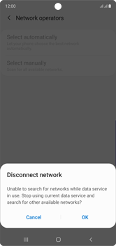 Samsung Galaxy Note 10 - Network - Manual network selection - Step 9