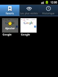 Samsung Galaxy Y - Internet et roaming de données - Navigation sur Internet - Étape 8