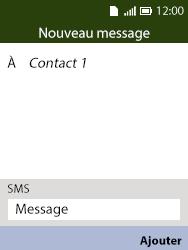 Alcatel 3088X - Contact, Appels, SMS/MMS - Envoyer un SMS - Étape 8
