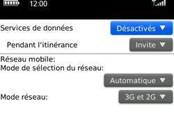 BlackBerry curve 3G - Internet et connexion - Désactiver la connexion Internet - Étape 5