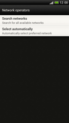 HTC One S - Network - Manual network selection - Step 7