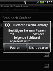 HTC A3333 Wildfire - Bluetooth - Geräte koppeln - Schritt 11