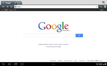 Samsung Galaxy Tab 2 10.1 - Internet and data roaming - Using the Internet - Step 5