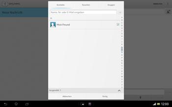 Sony Xperia Tablet Z LTE - MMS - Erstellen und senden - Schritt 10