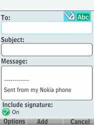 Nokia 301-1 - E-mail - Sending emails - Step 7