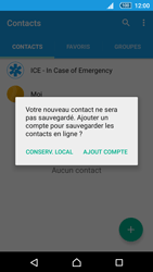 Sony Xperia Z5 Compact - Contact, Appels, SMS/MMS - Ajouter un contact - Étape 5
