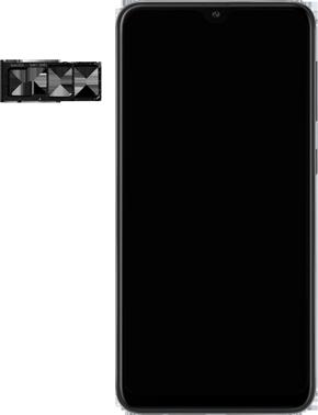 Samsung Galaxy A10 - Premiers pas - Insérer la carte SIM - Étape 3