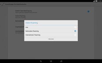 Sony Xperia Tablet Z2 LTE - Ausland - Im Ausland surfen – Datenroaming - 9 / 13