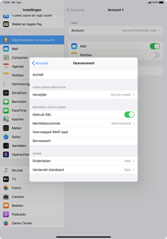 Apple iPad Pro 11 inch 2nd generation (2020) (Model A2230) - E-mail - Instellingen KPNMail controleren - Stap 24