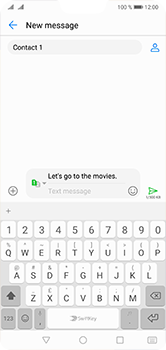 Huawei P20 Lite - MMS - Sending a picture message - Step 12