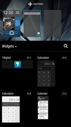 HTC One - Getting started - Installing widgets and applications on your start screen - Step 4