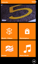 Nokia Lumia 800 / Lumia 900 - Startanleitung - Personalisieren der Startseite - Schritt 8