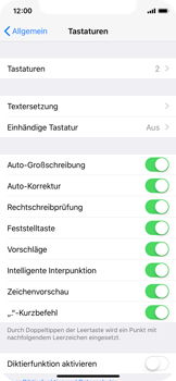 Apple iPhone X - iOS 11 - Einhand-Tastatur - 5 / 11