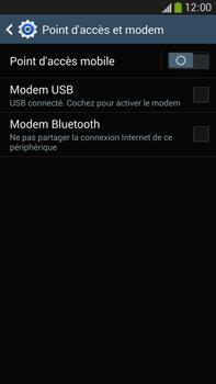 Samsung Galaxy Note 3 - Internet et connexion - Utiliser le mode modem par USB - Étape 6
