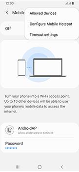 Samsung Galaxy A40 - Internet - Set up mobile hotspot - Step 8