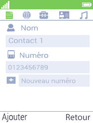 Mobiwire Doli - Contact, Appels, SMS/MMS - Ajouter un contact - Étape 7