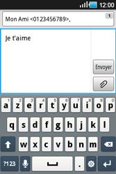 Samsung Galaxy Ace - Contact, Appels, SMS/MMS - Envoyer un SMS - Étape 9