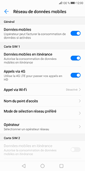 Huawei P Smart - Aller plus loin - Désactiver les données à l'étranger - Étape 6