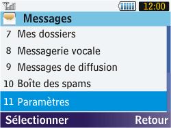 Samsung S3570 Chat 357 - SMS - configuration manuelle - Étape 4