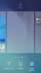 Samsung Galaxy S6 - Android Nougat - Operazioni iniziali - Installazione di widget e applicazioni nella schermata iniziale - Fase 4