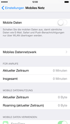 Apple iPhone 6 iOS 8 - Internet und Datenroaming - Prüfen, ob Datenkonnektivität aktiviert ist - Schritt 4