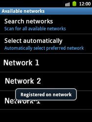 Samsung Galaxy Pocket - Network - Manual network selection - Step 11