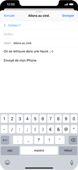 Apple iPhone XR - E-mails - Envoyer un e-mail - Étape 8