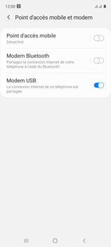 Samsung Galaxy A51 - Internet et connexion - Utiliser le mode modem par USB - Étape 9