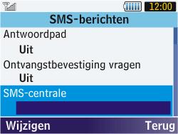 Samsung S3570 Chat 357 - SMS - Handmatig instellen - Stap 6