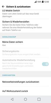 LG Q6 - Fehlerbehebung - Handy zurücksetzen - 8 / 13