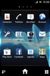 Sony ST23i Xperia Miro - Internet - aan- of uitzetten - Stap 3