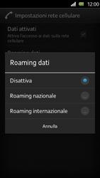 Sony Xperia U - Internet e roaming dati - Disattivazione del roaming dati - Fase 7