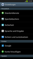 Samsung Galaxy S III - Gerät - Zurücksetzen auf die Werkseinstellungen - Schritt 4