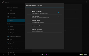 Sony Xperia Tablet Z LTE - Network - Manual network selection - Step 6