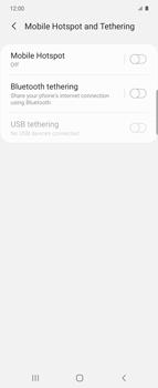 Samsung Galaxy Z flip - WiFi - How to enable WiFi hotspot - Step 6