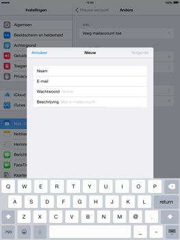Apple iPad mini retina iOS 8 - E-mail - Account instellen (POP3 met SMTP-verificatie) - Stap 8