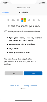 Apple iPhone X - E-mail - 032c. Email wizard - Outlook - Step 8