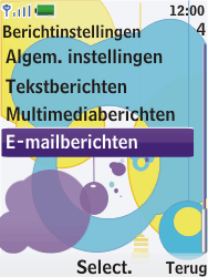 Nokia 7310 supernova - E-mail - Handmatig instellen - Stap 5