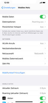 Apple iPhone XS Max - iOS 14 - Internet und Datenroaming - Manuelle Konfiguration - Schritt 8
