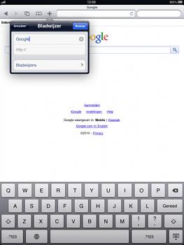 Apple iPad - Internet - hoe te internetten - Stap 5