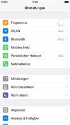Apple iPhone 6 iOS 8 - Internet und Datenroaming - Deaktivieren von Datenroaming - Schritt 3