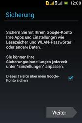 Sony Xperia Tipo Dual - Apps - Konto anlegen und einrichten - 25 / 29