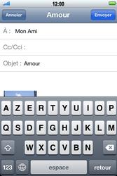 Apple iPhone 4 S - E-mail - envoyer un e-mail - Étape 7